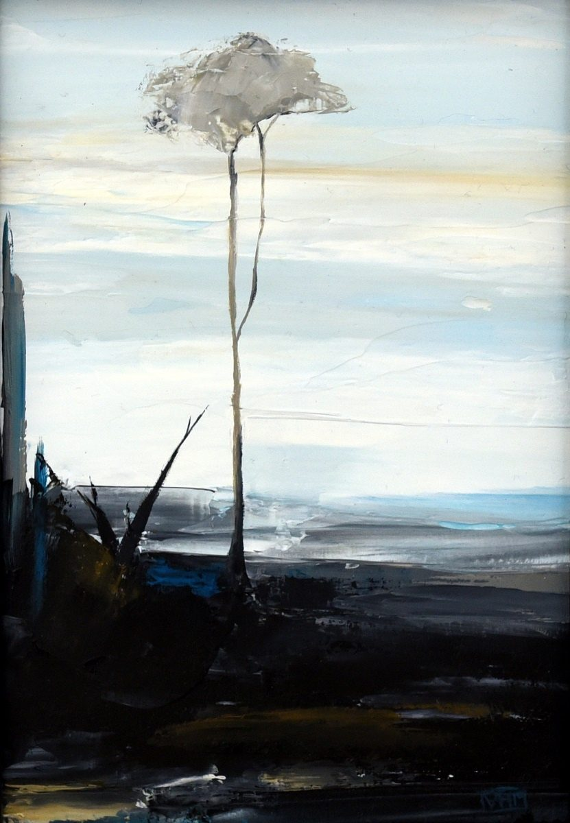 Lost on Some Horizon II - oil on board (23cm x 28cm framed)