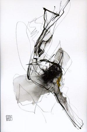 Movement I (charcoal on paper, 23 x 30.5cm)