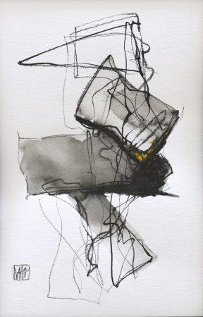 Movement II (charcoal on paper, 23 x 30.5cm)