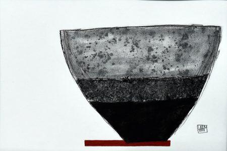 Red Shelf I - mixed media (35.5cm x 28cm)