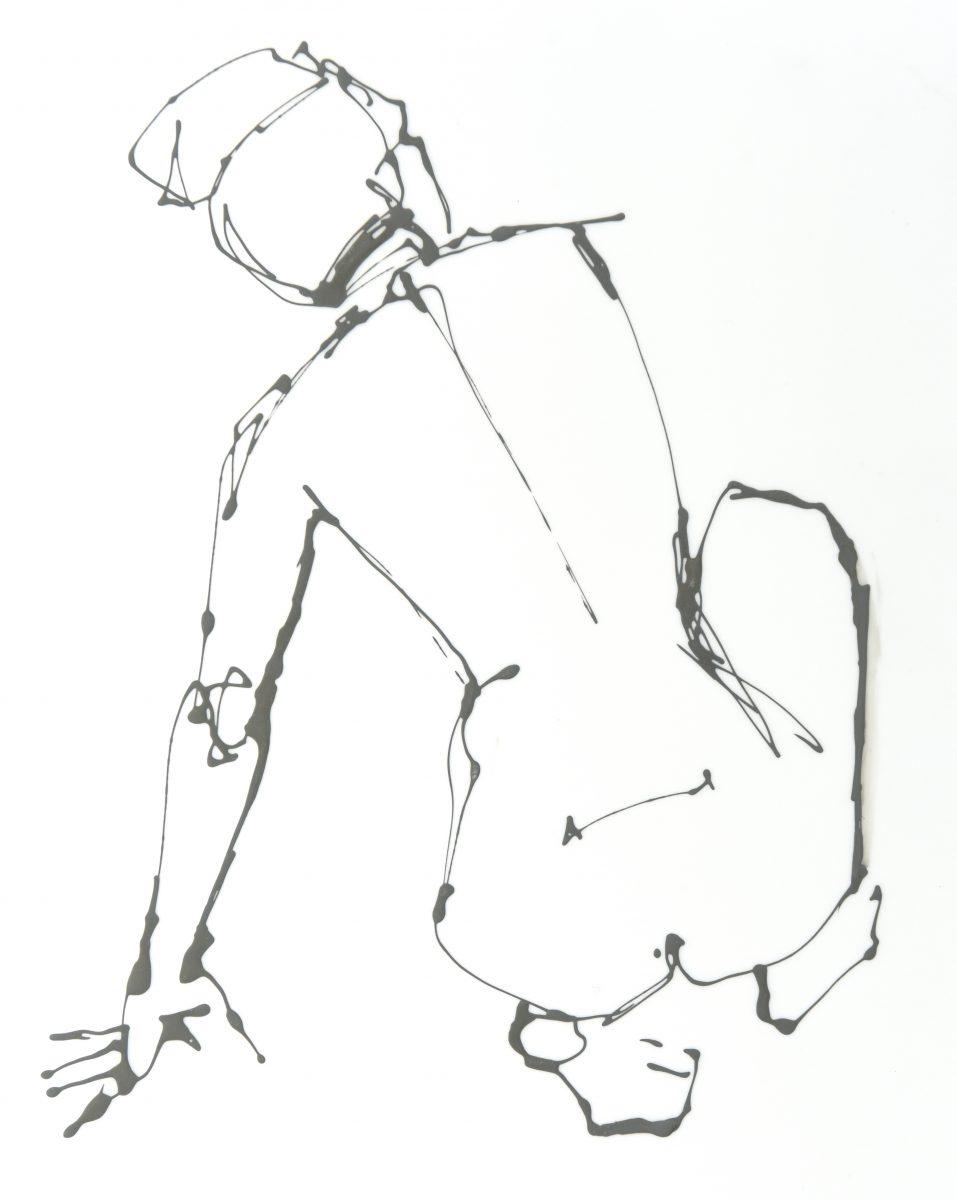 Figure leaning