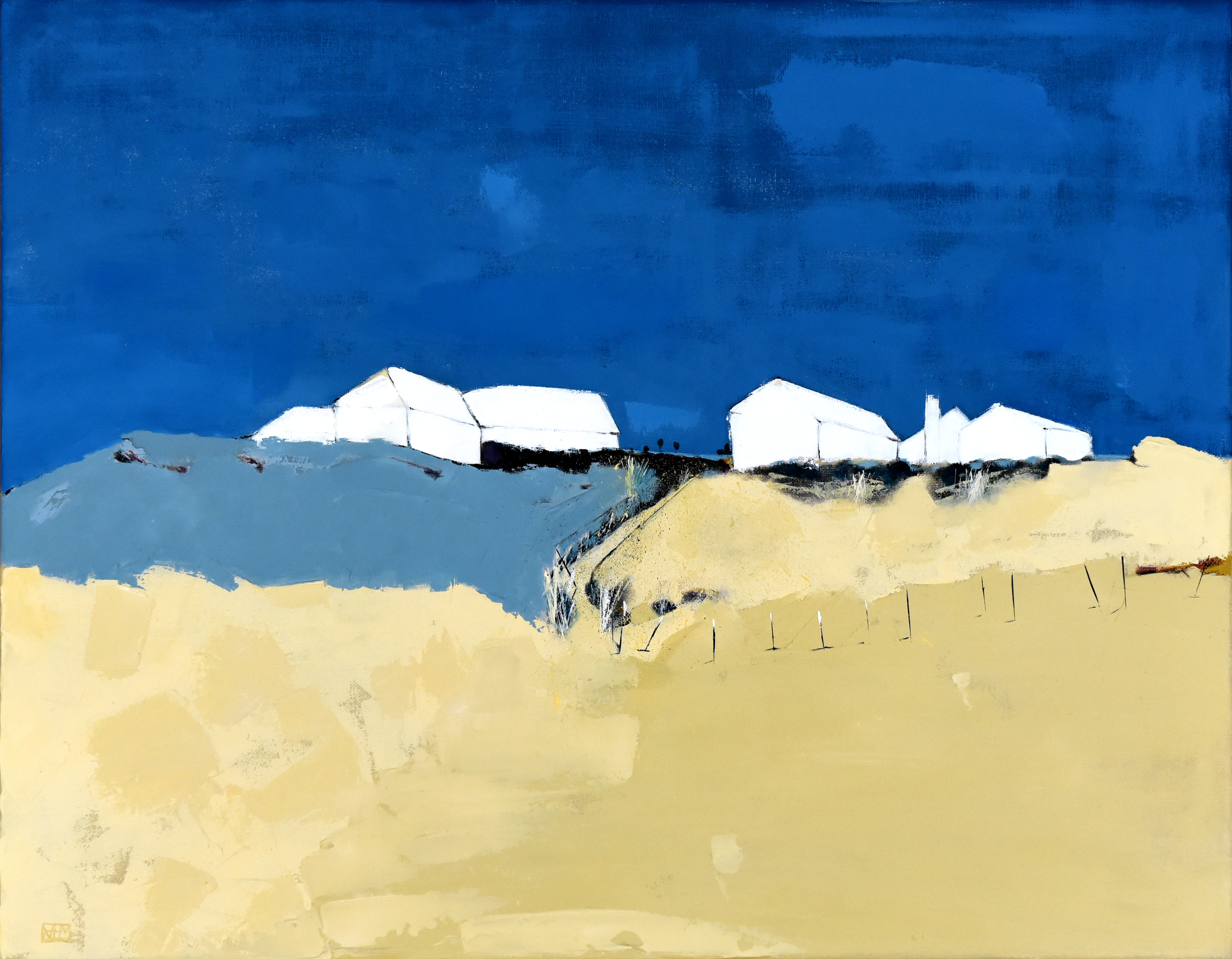 South Milton Sands in Blue (oil on canvas, 45 x 35.5cms, unframed)