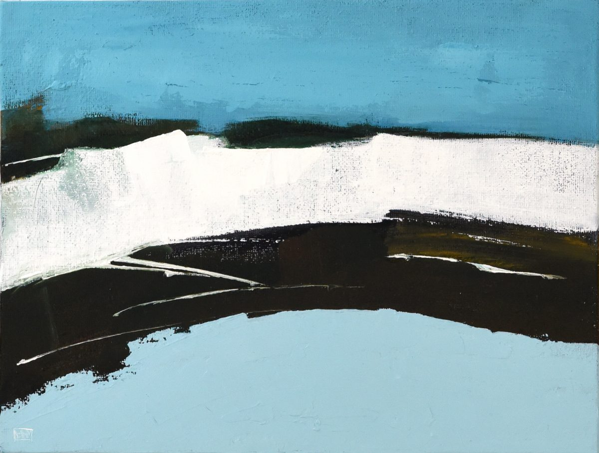 White Cliffs II (oil on canvas board, 42 x 36cms, framed)