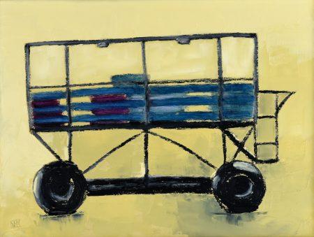 Burgh Island Sea Tractor (oil on Board)