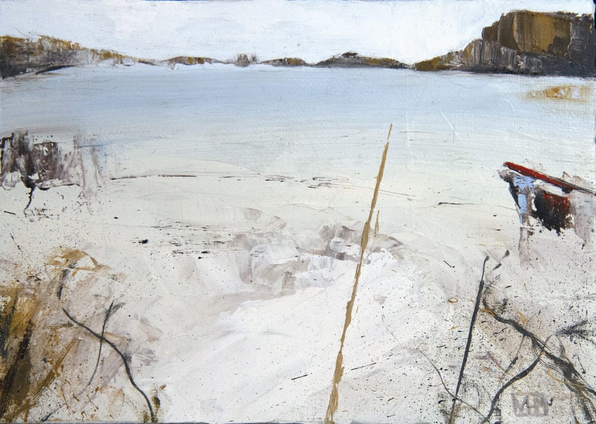 The beach I (oil on board)