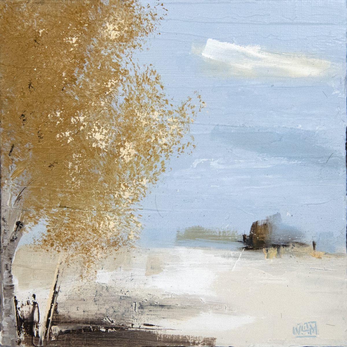Yellow Tree (oil on board)
